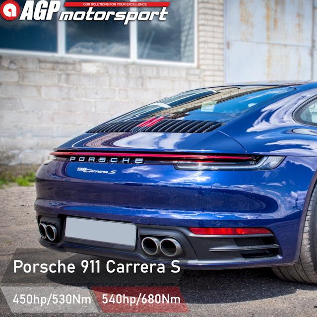 Чип-тюнинг Porsche 911(992) Carrera S 3.0TT — Stage1 AGPmotorsport