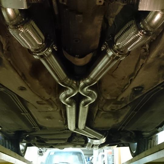 Audi S4 2.7T полный выхлоп — переделка Milltek. Потенциал до 600Hp