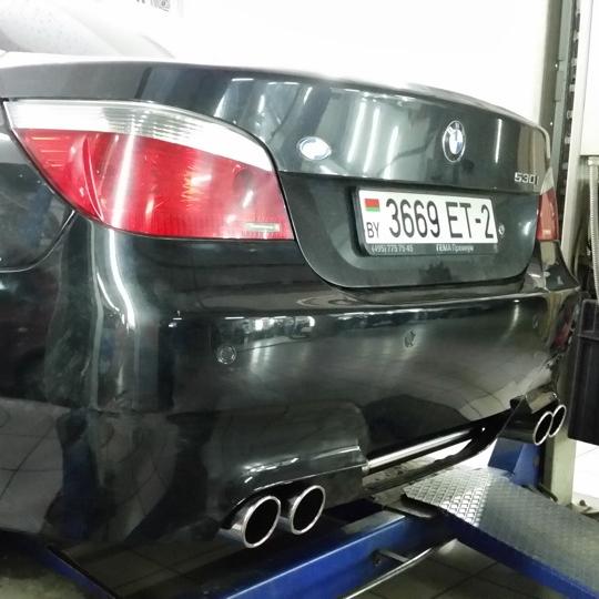 BMW 530i E60 выхлоп в стиле BMW M5