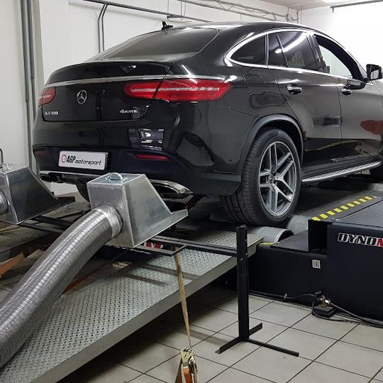 Mercedes GLE400 Stage1 и выхлоп с изменяемой геометрией