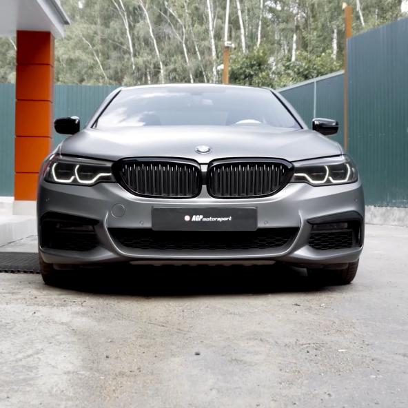 BMW G30 530D Stage2 + полный выхлоп + стайлинг