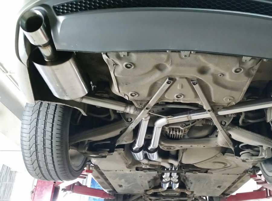Audi A7 3.0TFSI full custom exhaust в AGP Motorsport